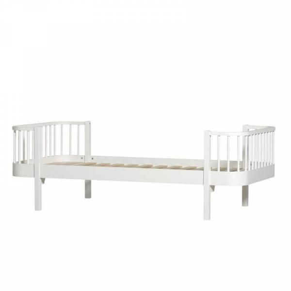 Wood Einzelbett, 90x200 cm, weiß