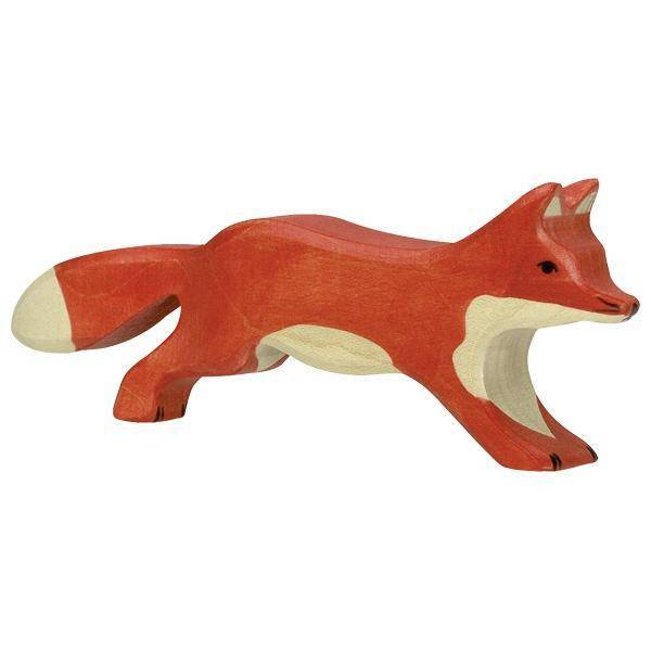 Fuchs laufend Holzfigur