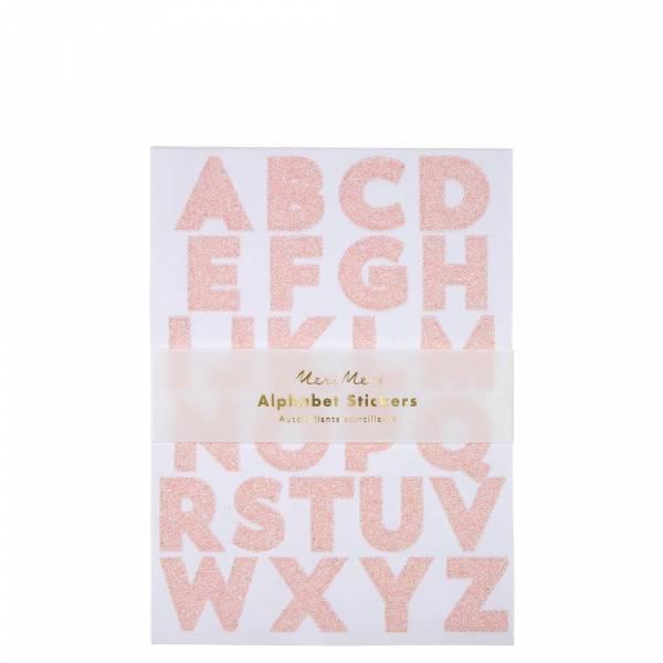 Pink Glitter Alphabet Sticker