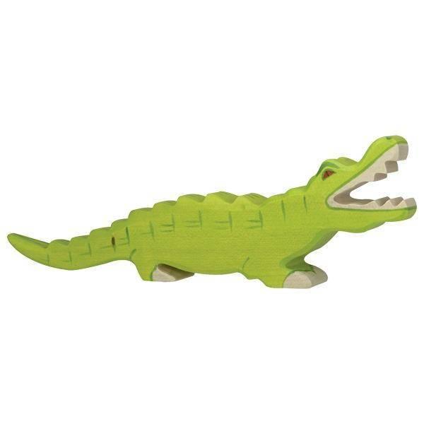 Krokodil Holzfigur