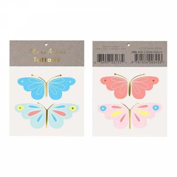 Neon Butterfly Tattoos