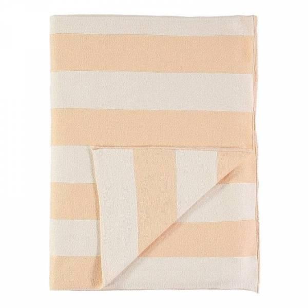 Babydecke Peach Stripe Knitted Blanket