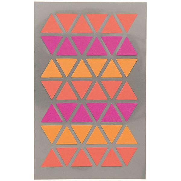 Sticker Dreieck Pink/Rot 4 Blatt 9,5x19cm