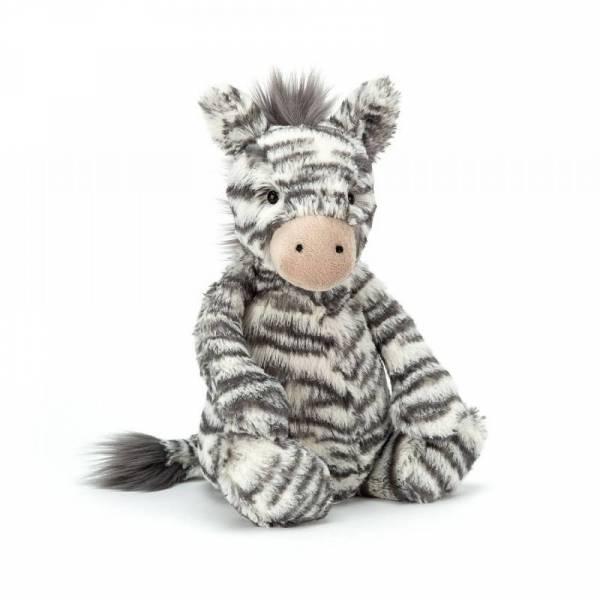 Stofftier Zebra Bashful Zebra Medium - schwarz/weiß - H31cm