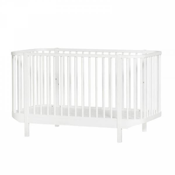 Wood Baby- und Kinderbett, 70x140 cm, weiß