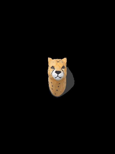 Gepard-Kleiderhaken aus Holz, handgeschnitzt