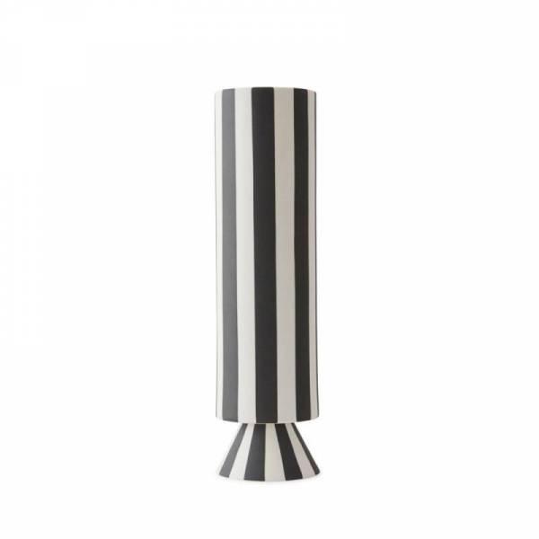 Toppu Vase High schwarz grau