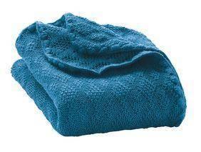 Woll-Babydecke 100x80cm - blau