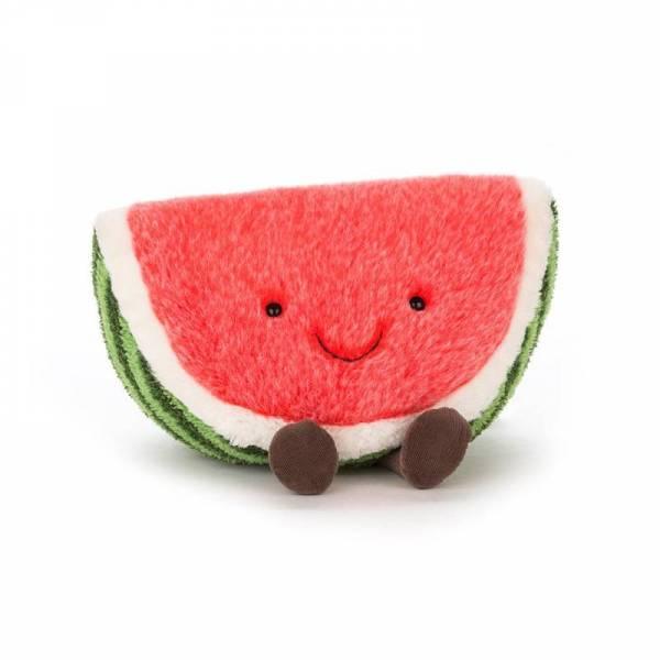 Stofftier Wassermelone Amuseable Watermelon - H28cm - grün/rot