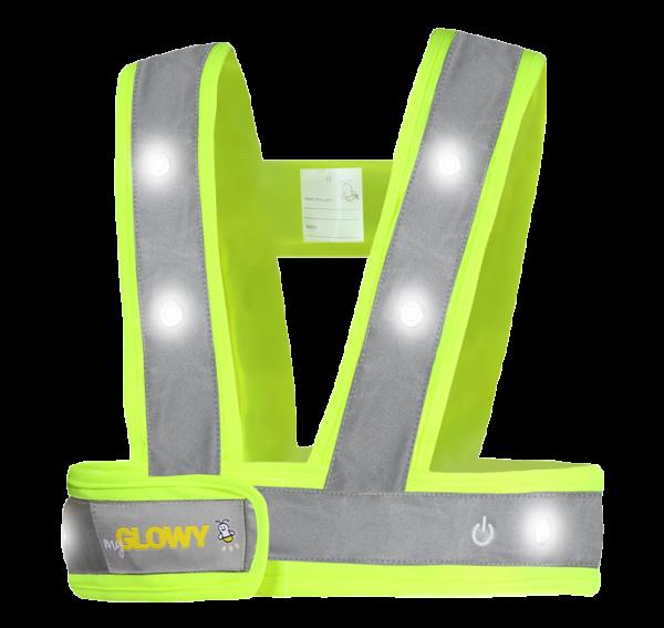 MyGlowy LED Warnweste für Kinder