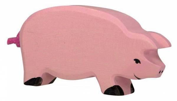 Schwein Holzfigur
