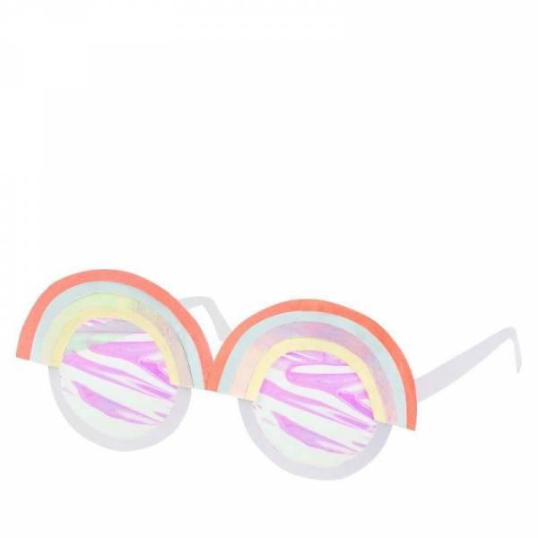 Regenbogen-Sonnenbrillen aus Pappe