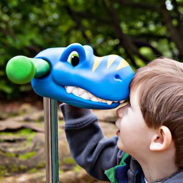 Scootaheadz Dino blau