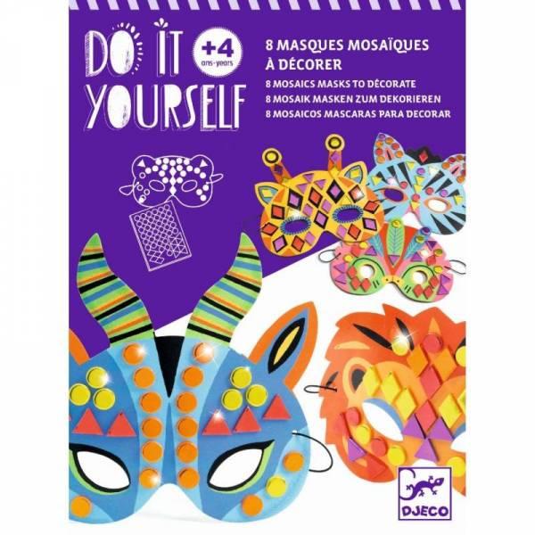 DIY Mosaik Masken: Dschungeltiere