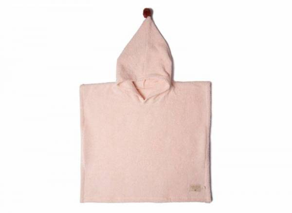 Bade Poncho 3-5y - pink