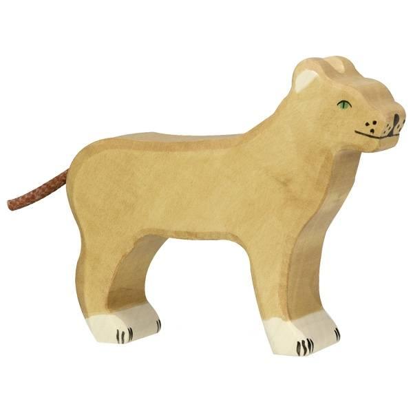 Löwin Holzfigur