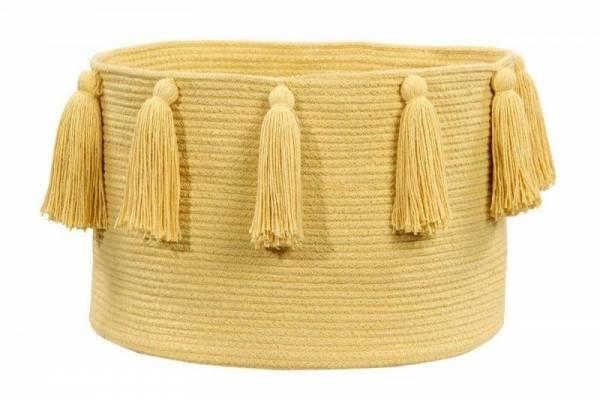 Korb - Basket Tassels - Yellow