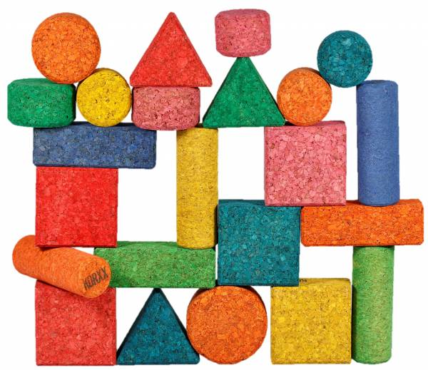 Form Mix Color Bausteine aus Kork