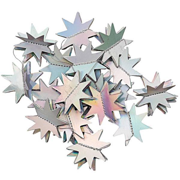 Girlande Sterne Irisierend 1,3m 20 Sterne
