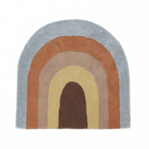 Kinderteppich 88 x 90 cm Follow the Rainbow