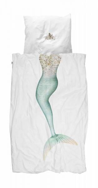 Kinder-Bettwäscheset Meerjungfrau Mermaid 135 x 200 cm, inkl. 1 Kissenbezug 80 x 80 cm