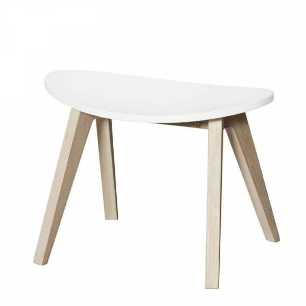 Wood PingPong Hocker weiß/Eiche