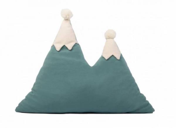 Kissen Snowy Mountain - Magic Green
