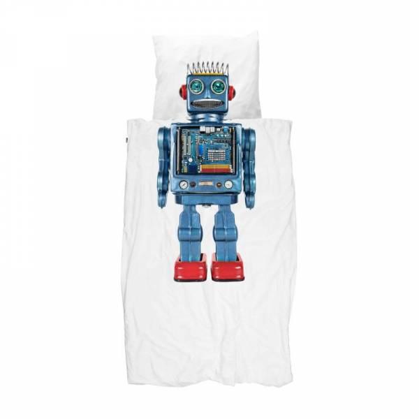 Kinder-Bettwäscheset Roboter Robot 135 x 200 cm, inkl. 1 Kissenbezug 80 x 80 cm