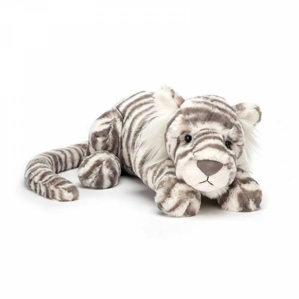 Stofftier Schneetiger Sacha Snow Tiger Little - H29cm - weiß