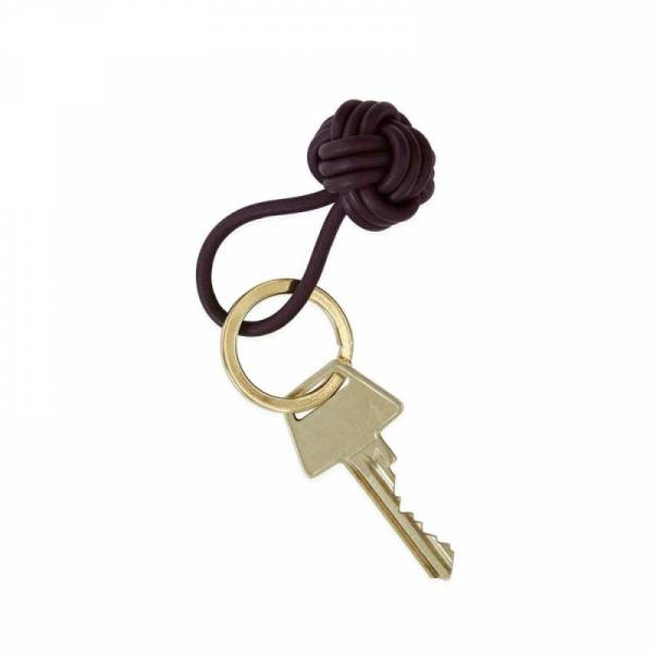 Schlüsselring Knot - bordeaux