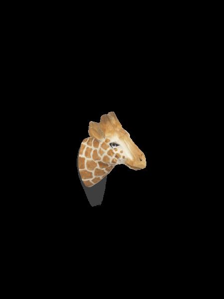 Giraffe-Kleiderhaken aus Holz, handgeschnitzt