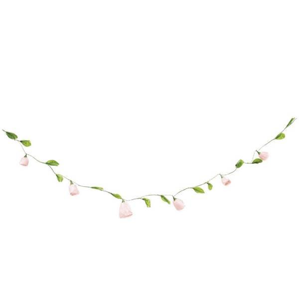 Papierblumen-Girlande pink 160cm