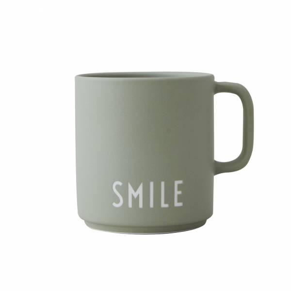 Lieblingsbecher mit Henkel SMILE grün