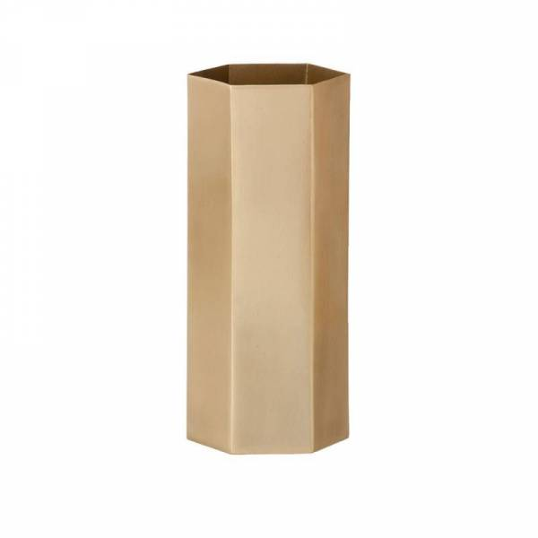 Hexagon Vase - Messing