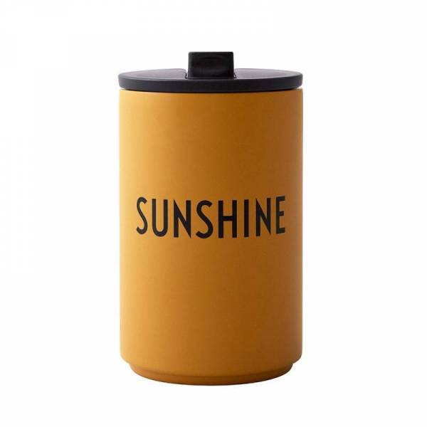 AJ Thermo Cup - Thermo Becher - mustard SUNSHINE