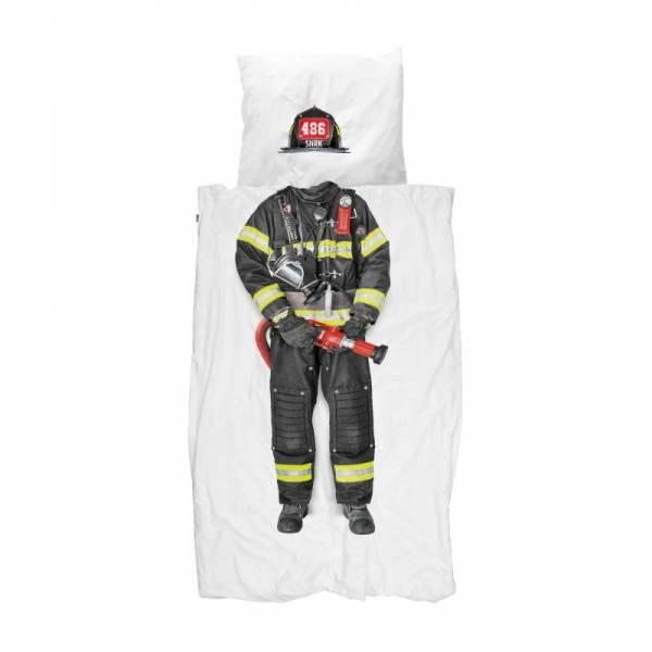 Kinder-Bettwäscheset Feuerwehrmann Firefighter 135x200cm, inkl. 1 Kissenbezug 80x80cm