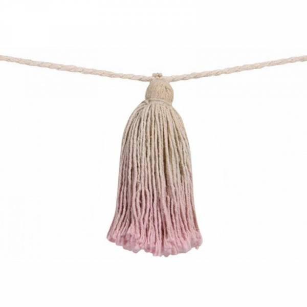 Pom Pom Garland Tie-Dye