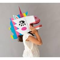 Einhorn Lily 3D-Maske
