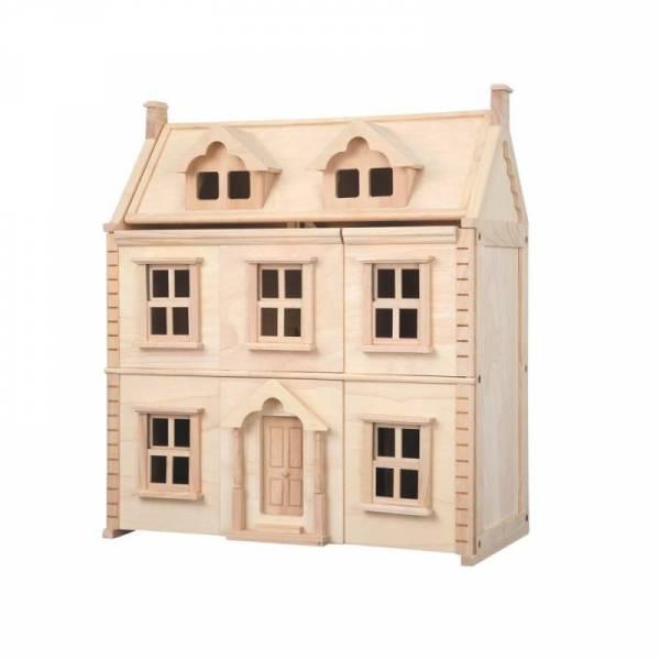Viktorianisches Puppenhaus aus Holz mit 3 Etagen