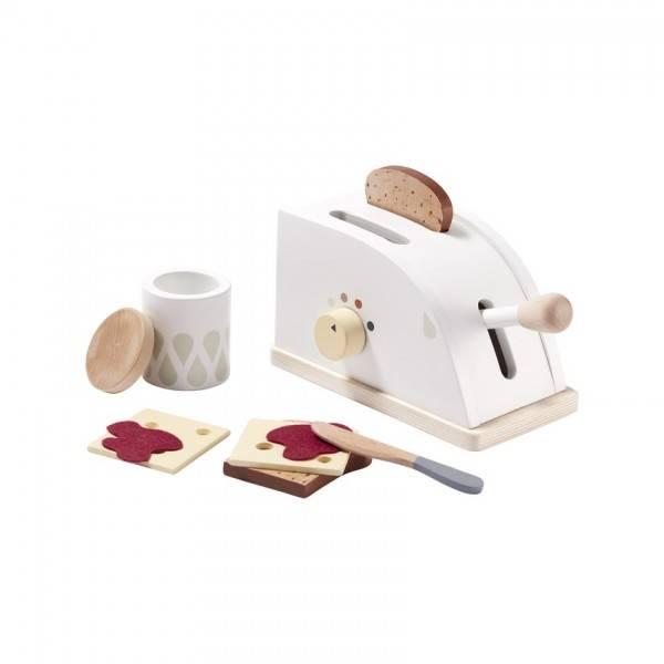 Toaster aus Holz mit Zubehör