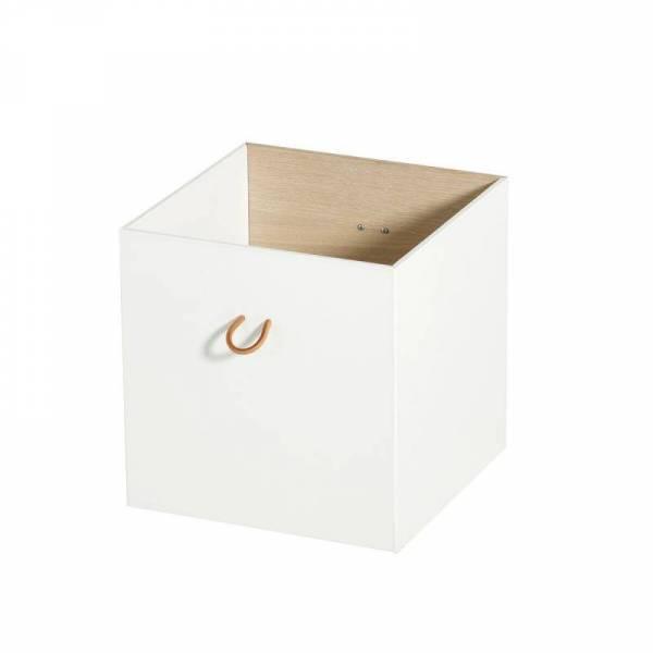 Wood Kisten weiß /Eiche, 3 Stück