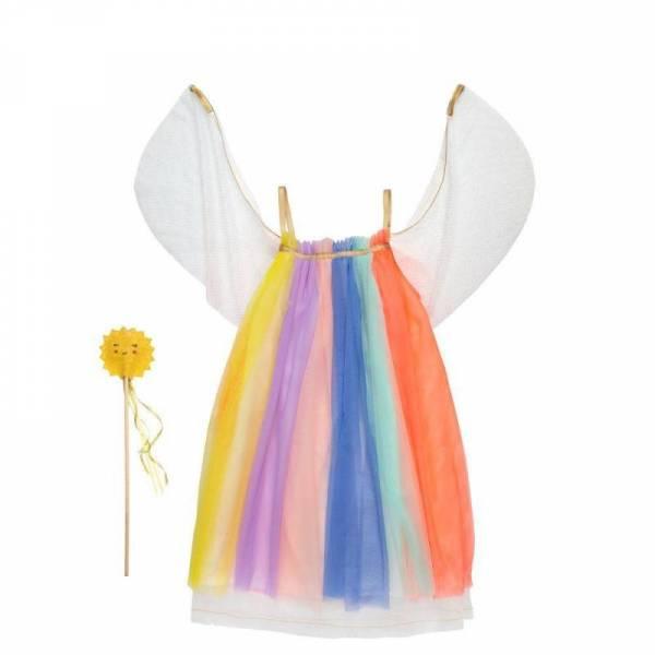 Regenbogen Kleid 5-6 Jahre
