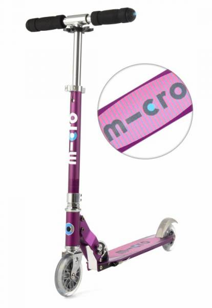 Sprite special edition Roller Scooter - lila - Streifen