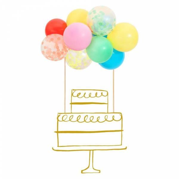 Rainbow Ballon Cake Topper