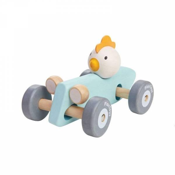 Rennwagen Huhn - hellblau