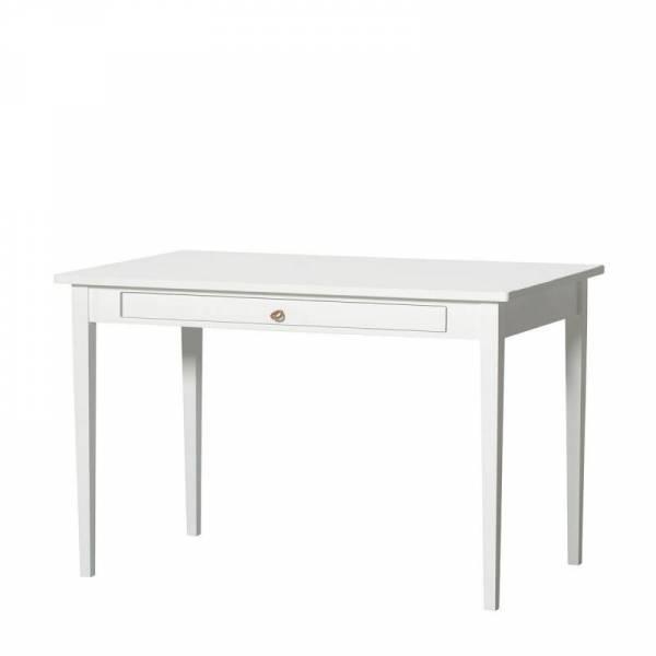 Seaside Schreibtisch (Lederband), weiß