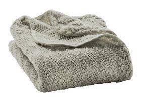 Woll-Babydecke 100x80cm - grau