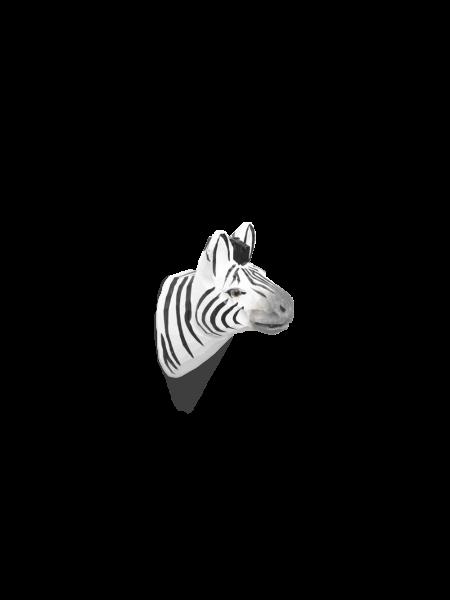 Zebra-Kleiderhaken aus Holz, handgeschnitzt