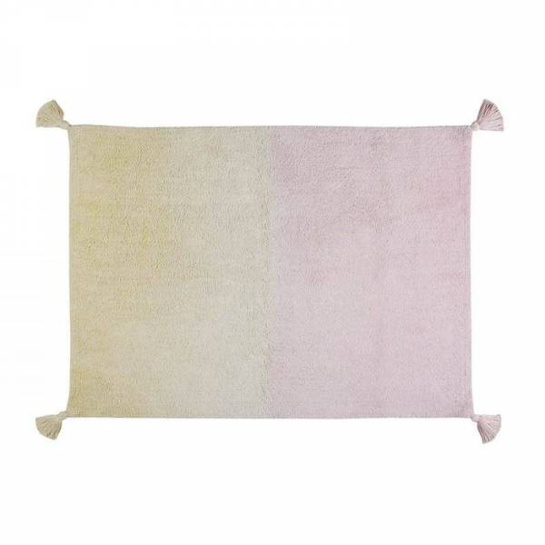Teppich Dégradé Verlauf gelb/rosé - 120x160cm