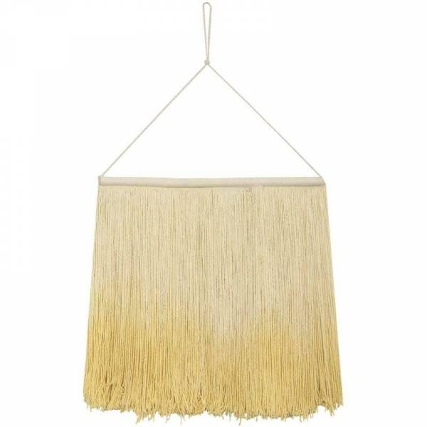 Wanddeko Wall Hanging Tie Dye - gelb
